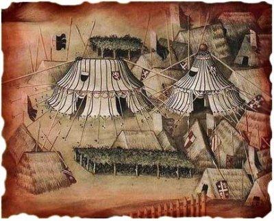 campement médiéval Simone-martini1328
